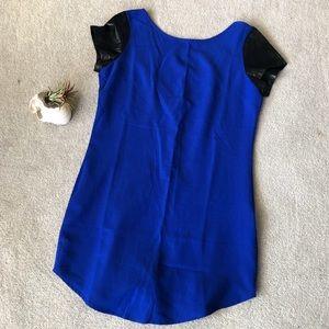 Cobalt Blue Mini Dress w/ Low Back